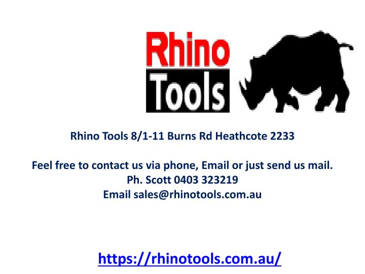 Rhino Tools 8/1-11 Burns Rd