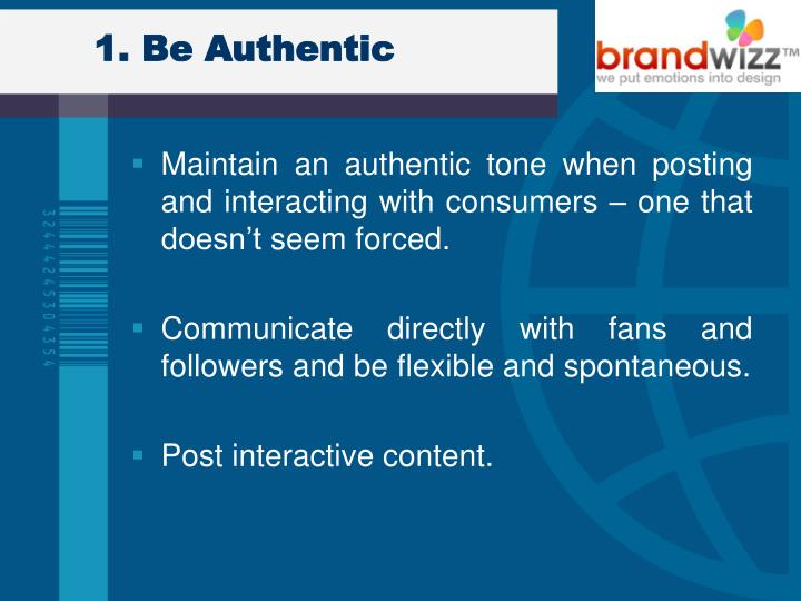 1 be authentic