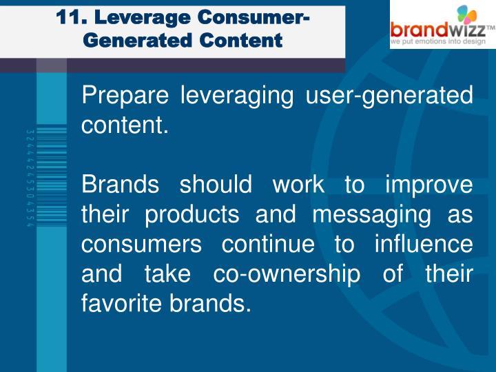 11. Leverage Consumer-Generated Content
