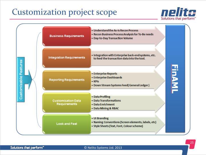 Customization project scope