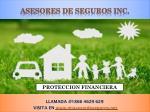 asesores de seguros inc