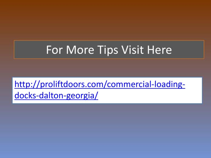 For More Tips Visit Here