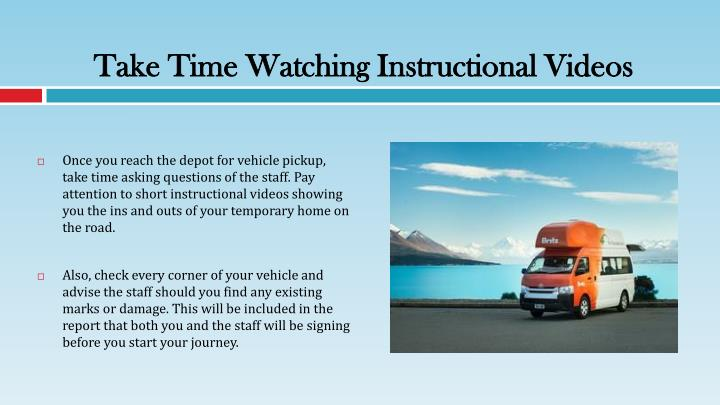 Take Time Watching Instructional Videos