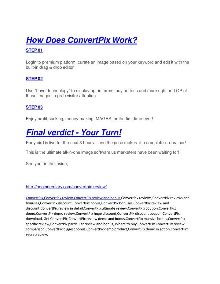 How Does ConvertPix