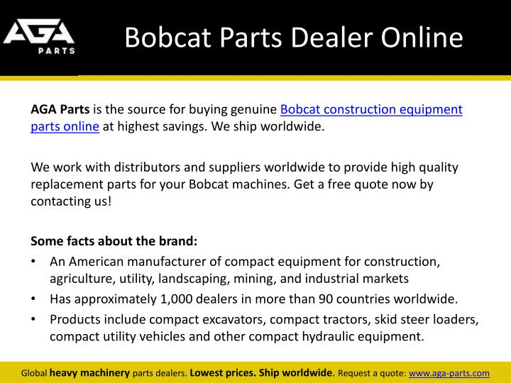 Bobcat parts dealer online
