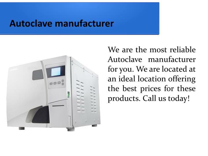 Autoclave manufacturer