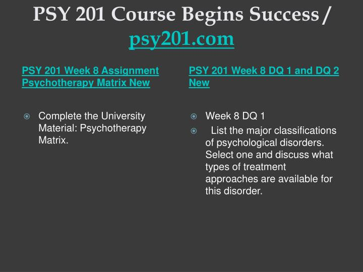week 1 dq 1 psy 201 five major perspectives in psychology Tutorialrank is a online tutorial store we provides psy 201 week 1 assignment perspectives of psychology psy 201 week 1 dq 1 and dq 2 $300 no rating.