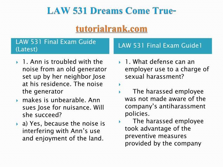 Law 531 dreams come true tutorialrank com2