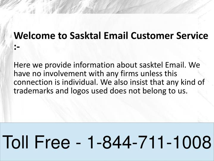 Welcome to Sasktal Email Customer Service :-