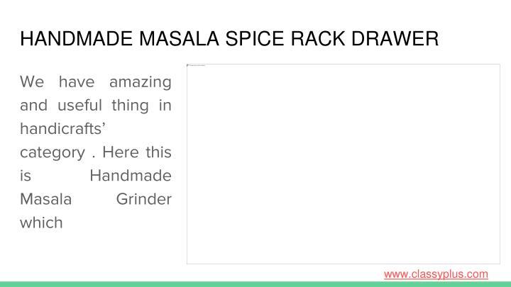 HANDMADE MASALA SPICE RACK DRAWER