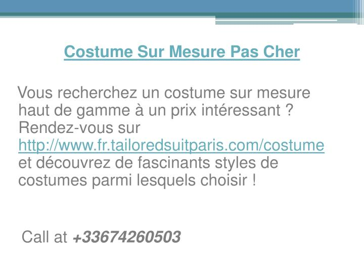 Costume sur mesure pas cher1