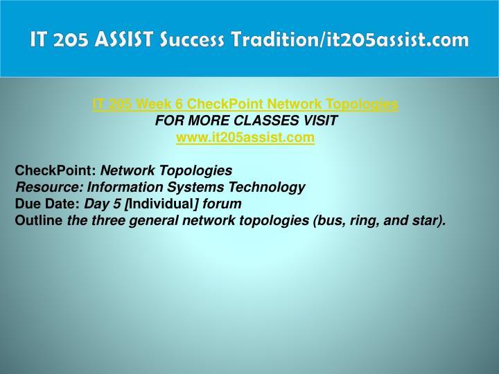 IT 205 ASSIST Success Tradition/it205assist.com