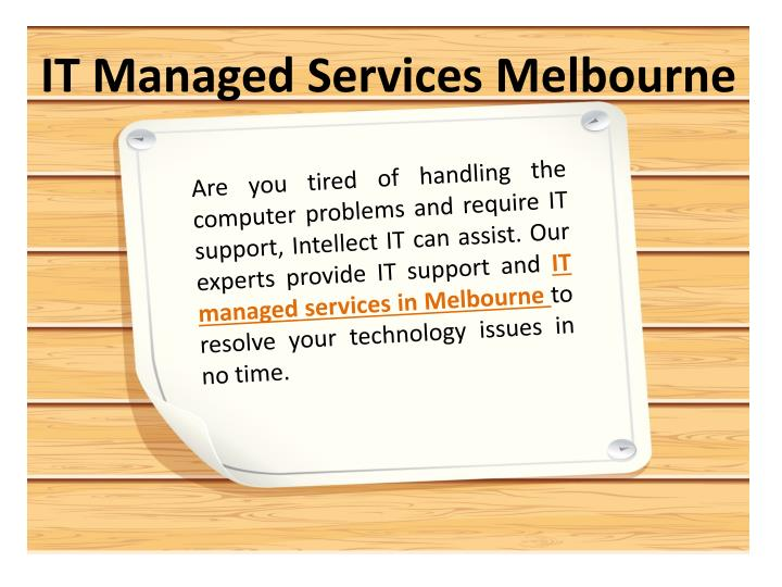 IT Managed Services Melbourne