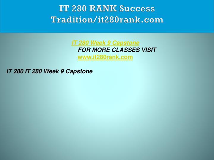 IT 280 RANK Success Tradition/it280rank.com