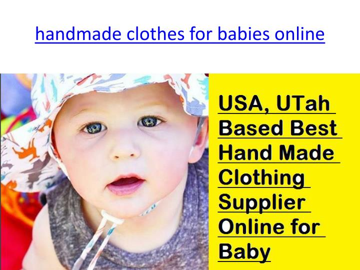 Handmade clothes for babies online