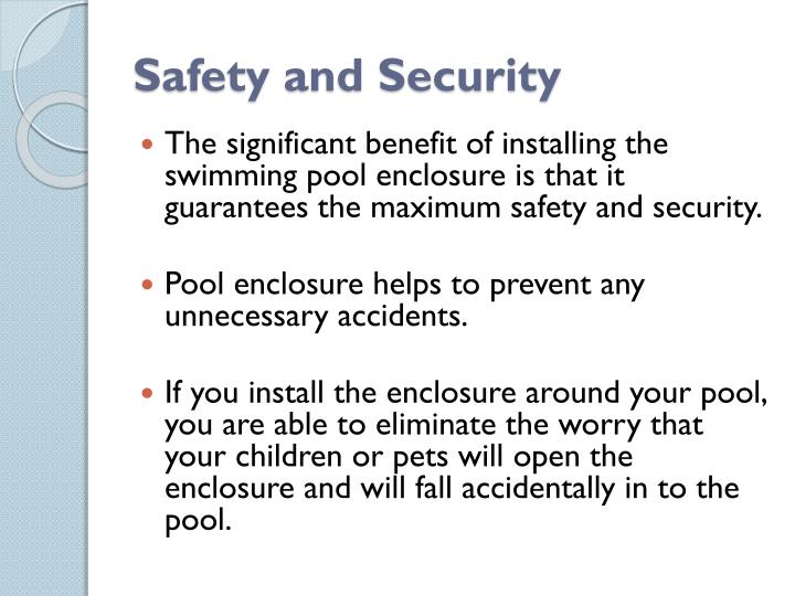 Safety and Security