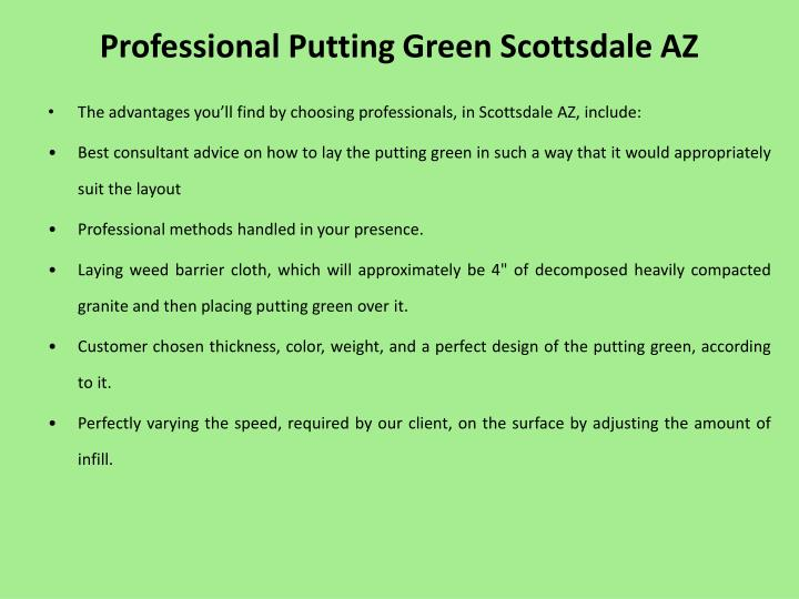 Professional putting green scottsdale az