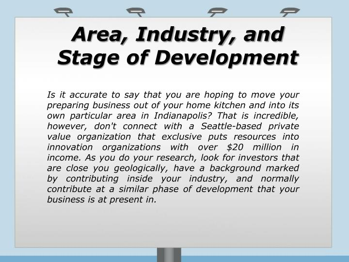 Area, Industry, and Stage of Development