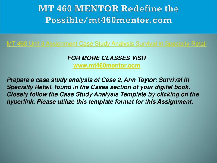 ann taylor survival in specialty retail case