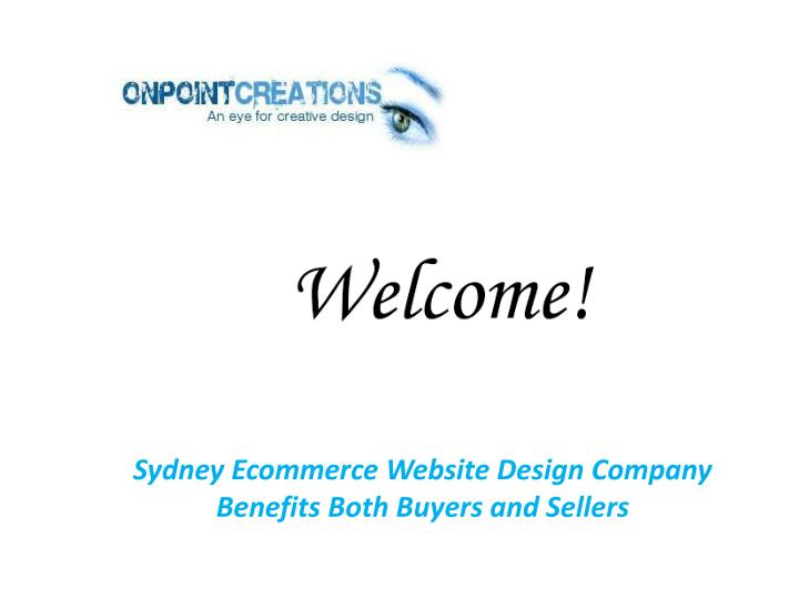 Sydney Ecommerce Website Design Company Benefits Both Buyers and Sellers