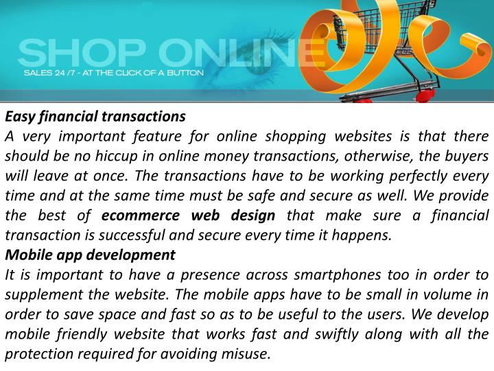 Easy financial transactions