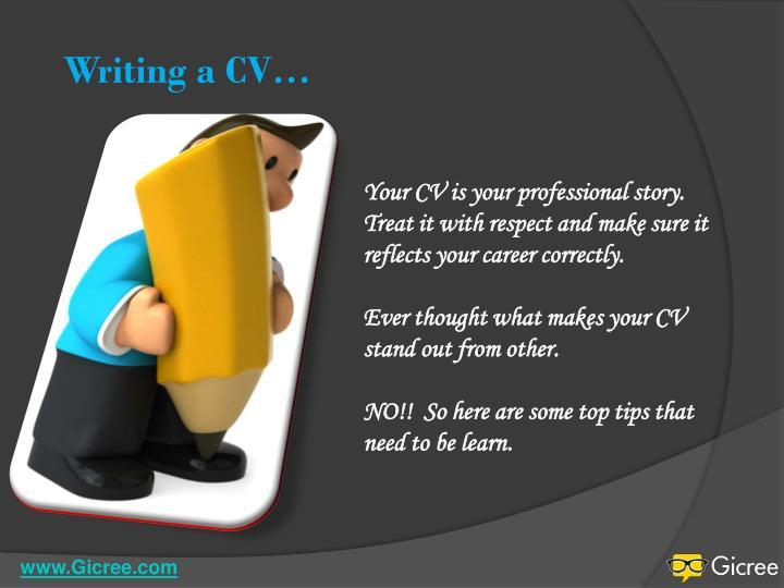 Writing a CV…
