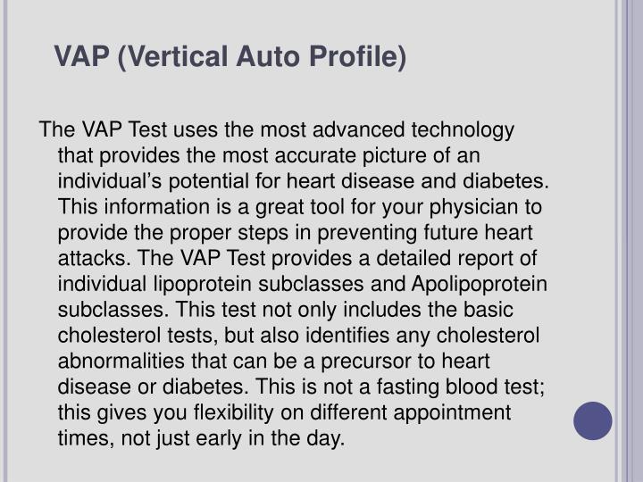 VAP (Vertical Auto Profile)