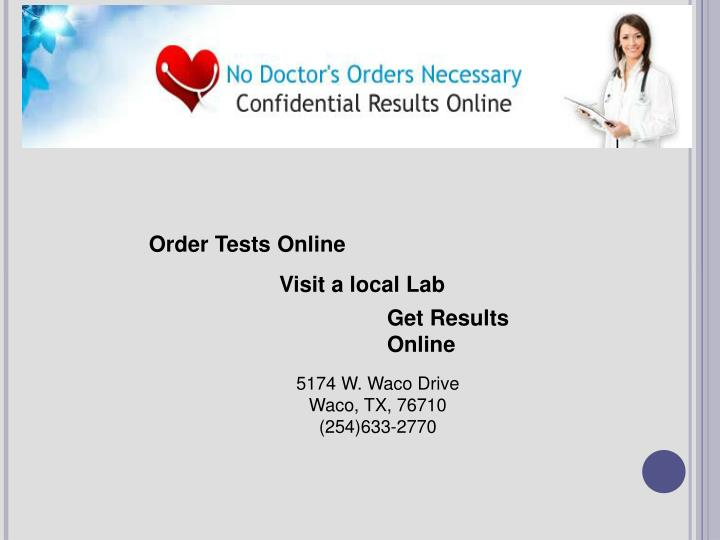 Order Tests Online