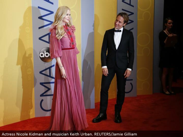 Actress Nicole Kidman and artist Keith Urban. REUTERS/Jamie Gilliam