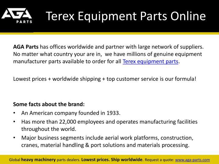 Terex equipment parts online