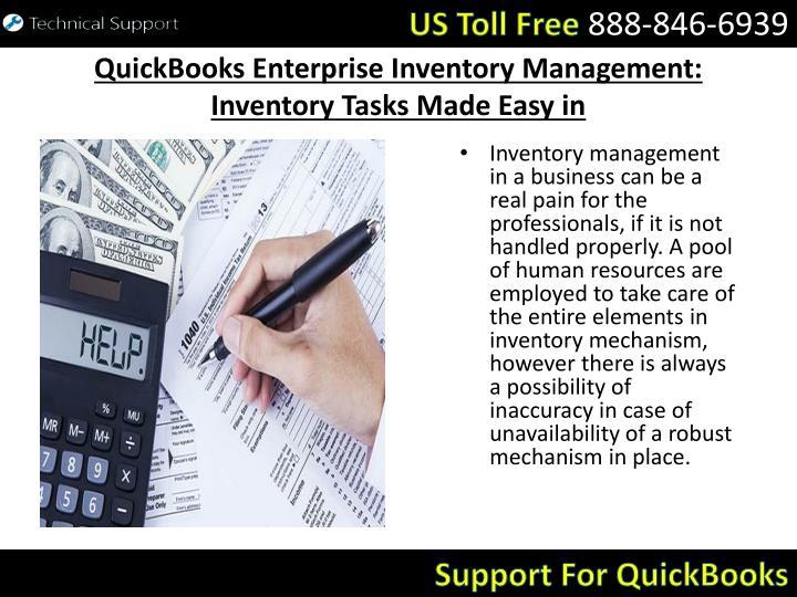 Quickbooks enterprise inventory management inventory tasks made easy in