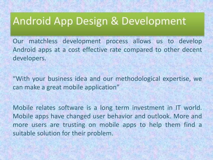 Android app design development