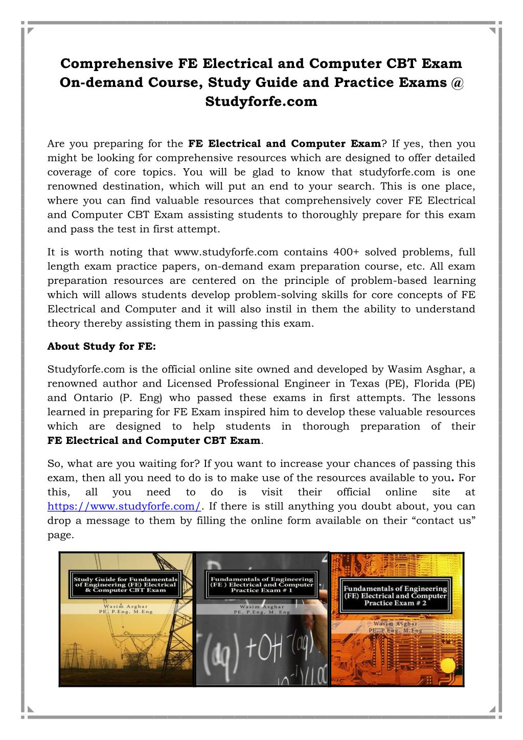 Ppt Fe Electrical And Computer Cbt Exam Powerpoint Presentation Free Download Id 7434484