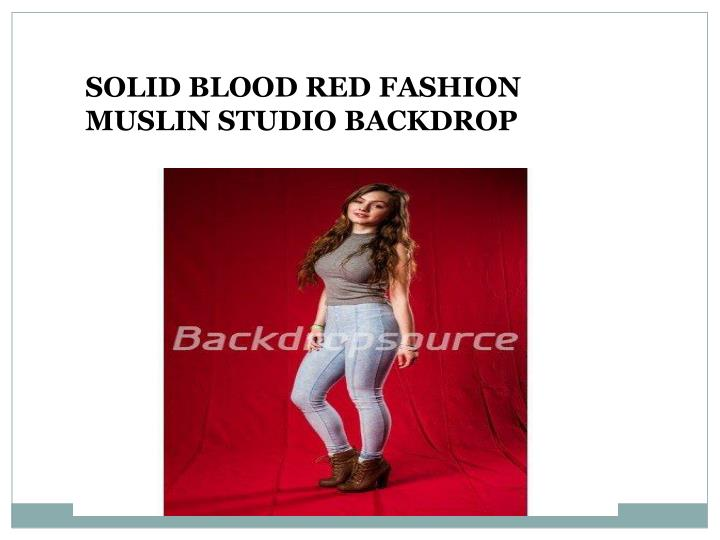 SOLID BLOOD RED FASHION MUSLIN STUDIO BACKDROP