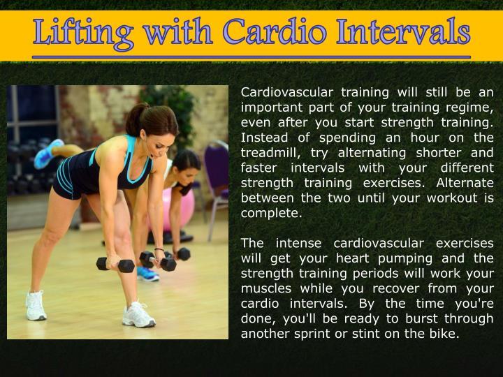 Cardiovascular training will still be an