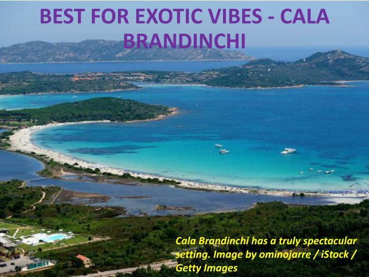 Best for exotic vibes - Cala Brandinchi