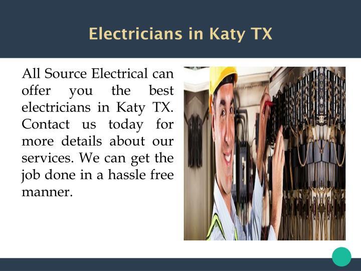 Electricians in Katy TX