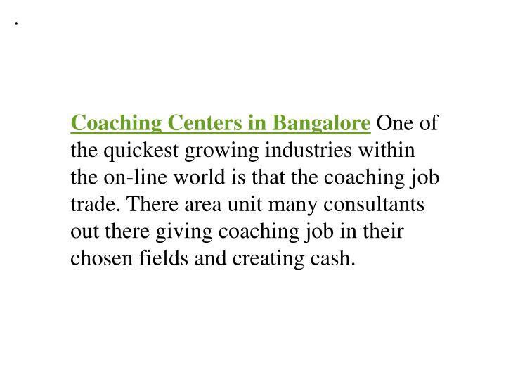 Coaching centers in bangalore 7434535