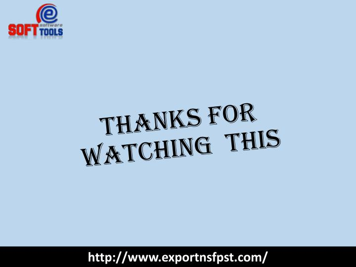 Thanks For Watching  this