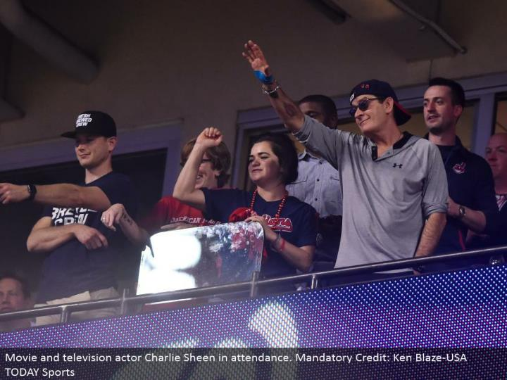 Movie and TV performing artist Charlie Sheen in participation. Compulsory Credit: Ken Blaze-USA TODAY Sports