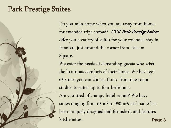 Park Prestige Suites