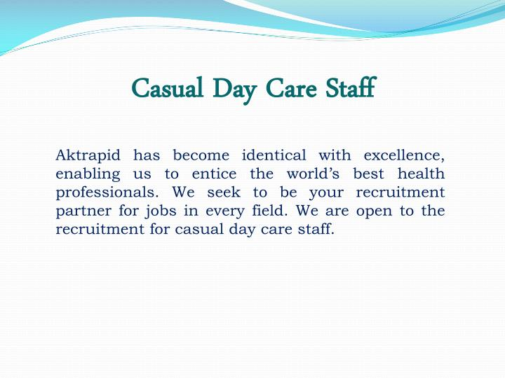Casual Day Care Staff