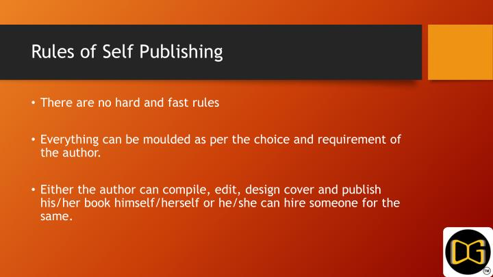 Rules of self publishing