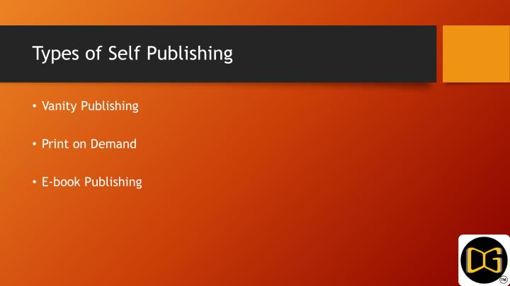 Types of Self Publishing