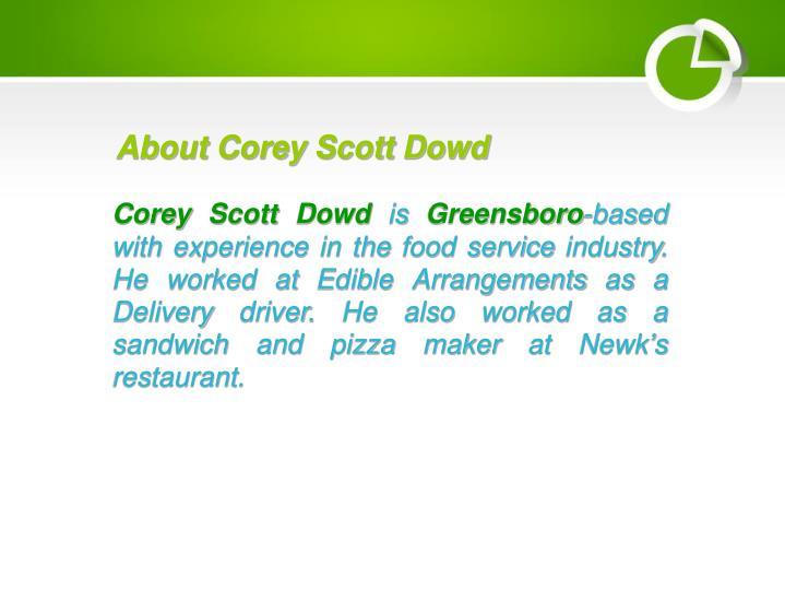 About Corey Scott Dowd
