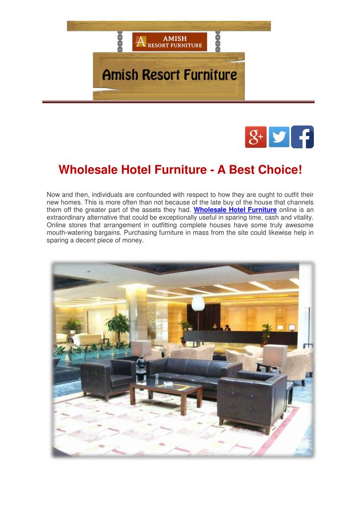 Wholesale Hotel Furniture - A Best Choice!