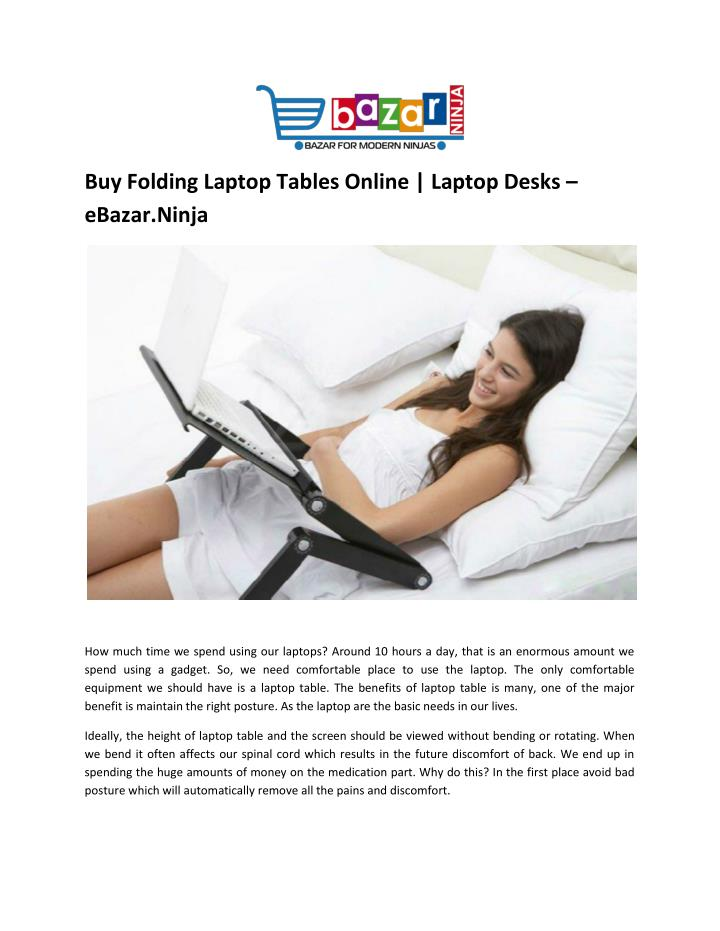 Buy Folding Laptop Tables Online | Laptop Desks