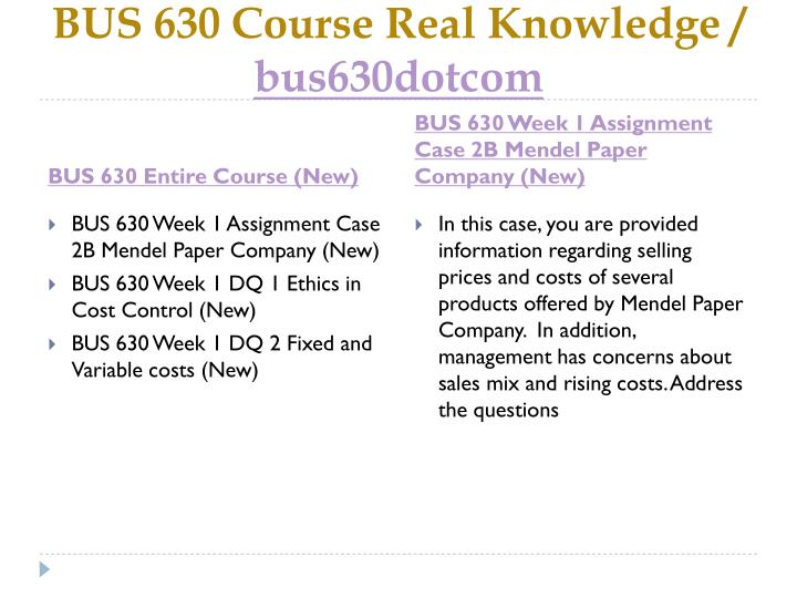 Bus 630 course real knowledge bus630dotcom1