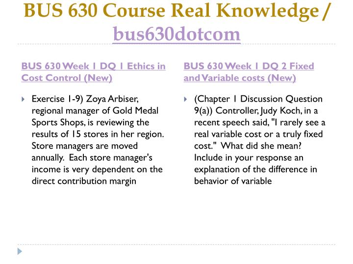 Bus 630 course real knowledge bus630dotcom2