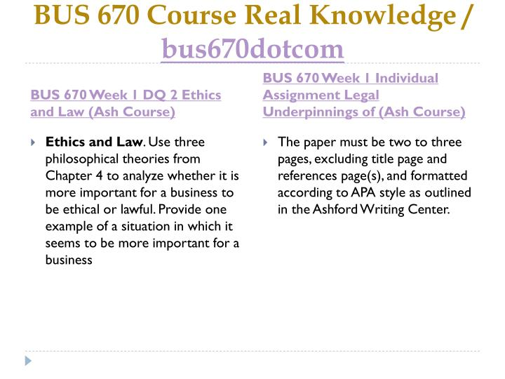 Bus 670 course real knowledge bus670dotcom2